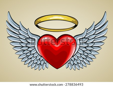 Angel Halo Stock Photos, Images, & Pictures | Shutterstock Angel Wings Heart Halo