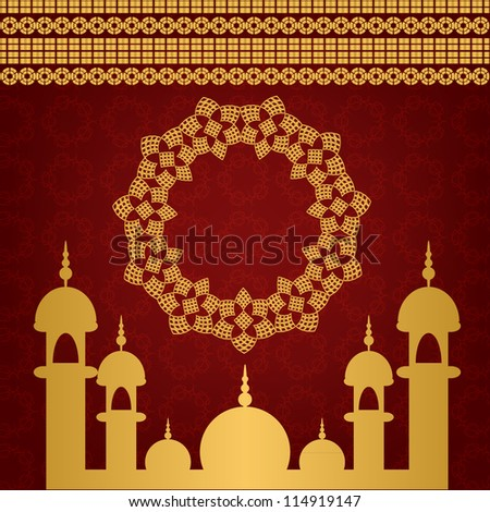 Red Islamic Background. Jpeg Version Also Available In Gallery. - stock vector