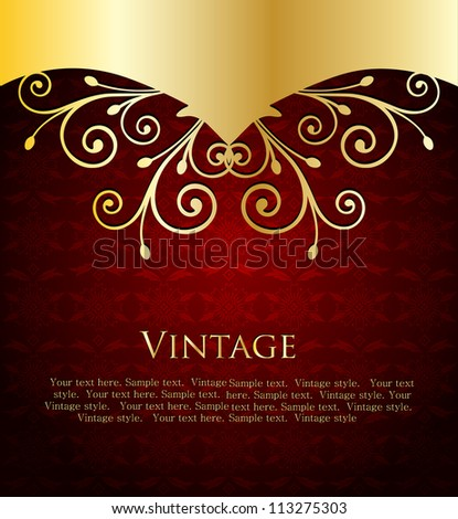 Red Label Template. Vector illustration - stock vector