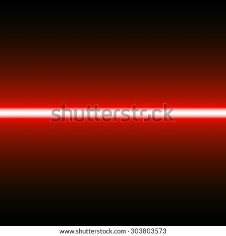 Red laser beam. Light effect. Vector illustration. - stock vector