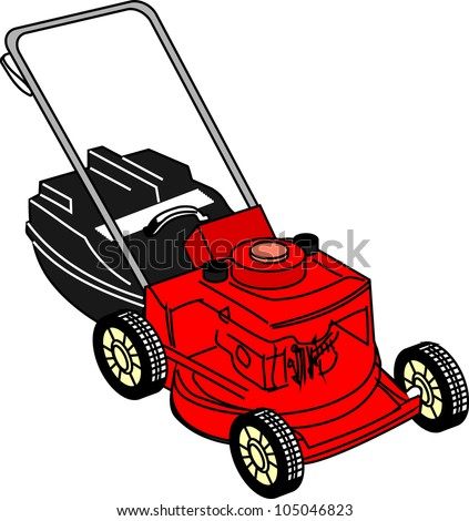 lawn mower vector - photo #33