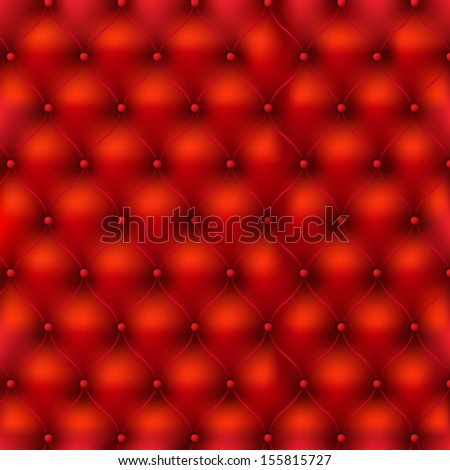 Red Leather Texture With Gradient Mesh, Vector Illustration - stock vector