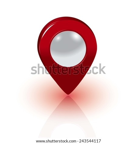 Red map pointer vector - stock vector