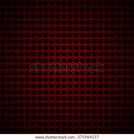 red Metal Background with Little Holes. vector - stock vector