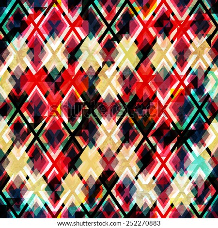 red mosaic seamless texture with grunge effect - stock vector