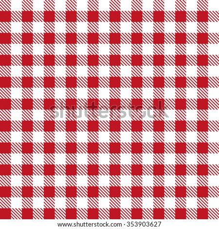 Red patterns tablecloths stylish a illustration design - stock vector