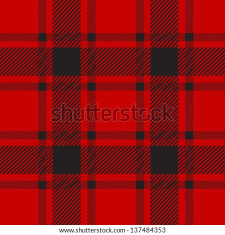 red plaid pattern for background - stock vector