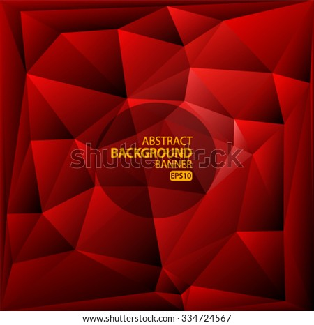 Red polygonal mosaic background Vector EPS 10 illustration. - stock vector