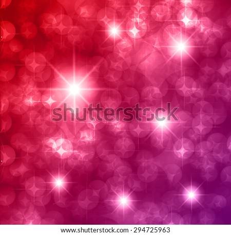 red purple Defocused Light, Flickering Lights, Vector abstract festive background with bokeh defocused lights. star. - stock vector