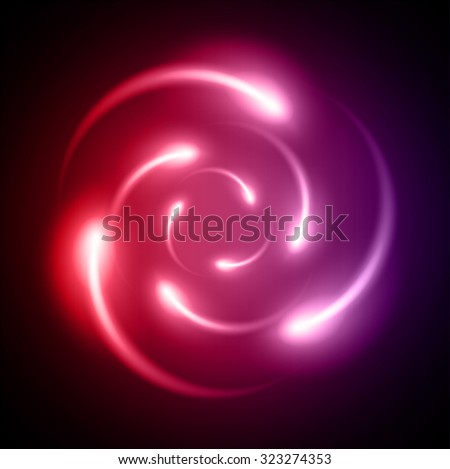 red purple Shining atom scheme. Vector illustration. dark background. digital. infographics. Abstract Technology background for computer graphic website internet and business. circuit. - stock vector