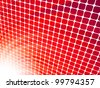 Red rays light 3D mosaic. EPS 8 vector file included - stock vector