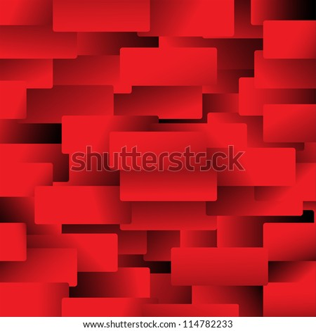 Red rectangles - stock vector