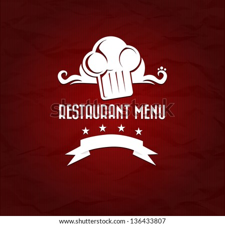 Red Restaurant Menu with symbols eps10 - stock vector