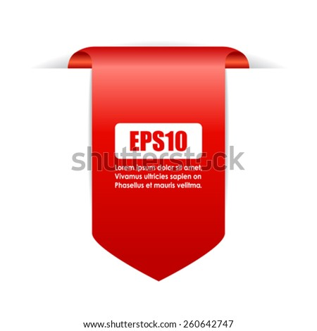Red ribbon icon  - stock vector