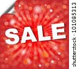 Red Sale Poster With Bokeh, Vector Illustration - stock vector