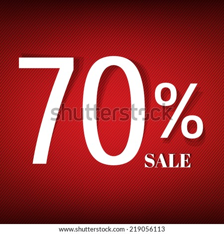 Red Sale Poster With Gradient Mesh, Vector Illustration - stock vector