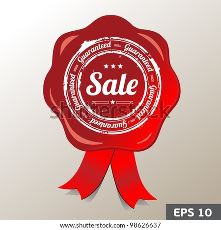 Red sale stamp - stock vector