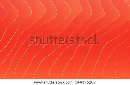 Red salmon texture. Fish background. Vector illustration - stock vector