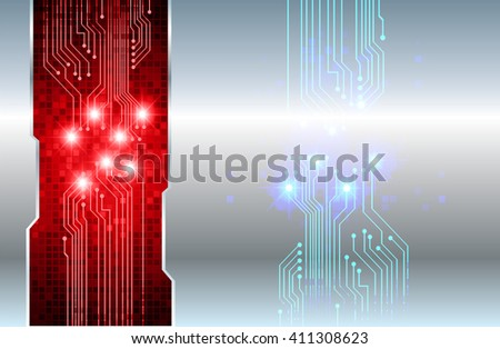 red silver abstract hi speed internet technology background illustration. eye scan virus computer. motion move. text box. label. card - stock vector