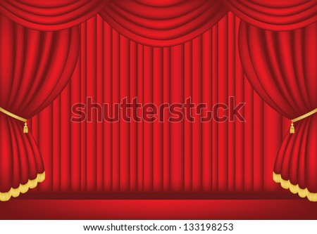 Red Stage in vector format - stock vector