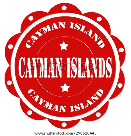 Red stamp with text Cayman Islands,vector illustration - stock vector