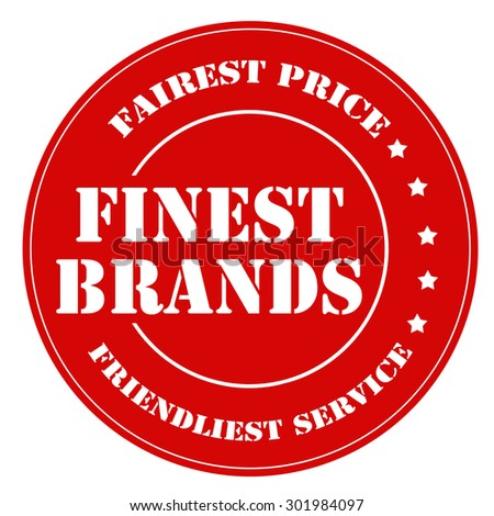 Red stamp with text Finest Brands,vector illustration - stock vector