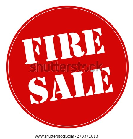 Red stamp with text Fire Sale,vector illustration - stock vector