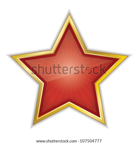 Red Star Vector Illustration - stock vector