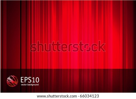 Red stripped vector abstract. - stock vector