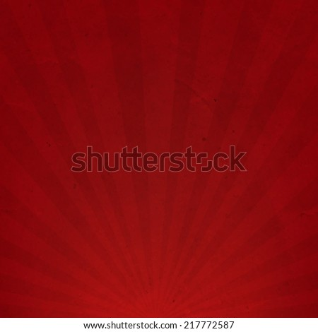 Red Sunburst Cardboard Paper, Vector Illustration - stock vector