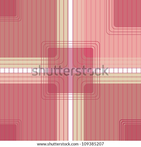 Red tablecloth background with vignette - stock vector