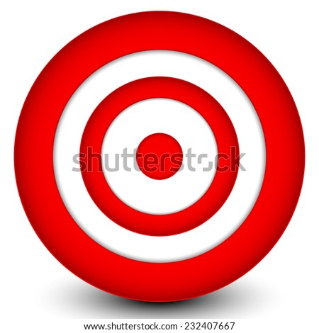 Red target - stock vector