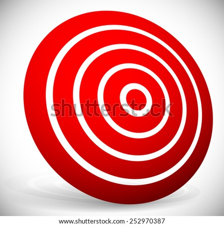 Red target graphics - stock vector