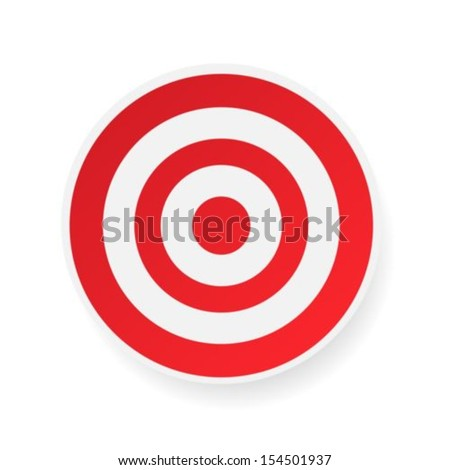 Red target on white background  - stock vector
