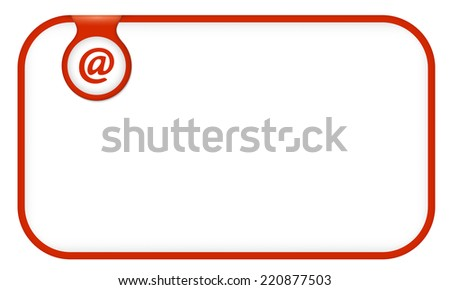 red text frame for any text with email icon - stock vector