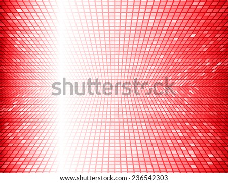 Red Vector abstract design. pixels mosaic background computer graphic website and internet.  - stock vector