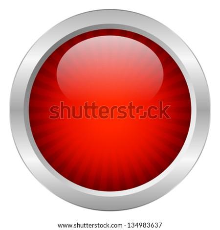 Red vector button - stock vector
