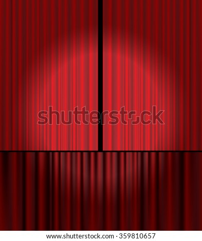Red velvet curtain vector background. - stock vector