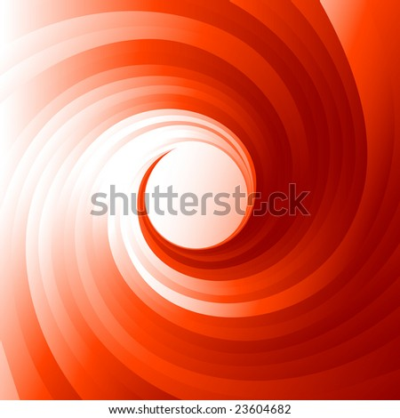 Red vortex, vector illustration, EPS file included - stock vector