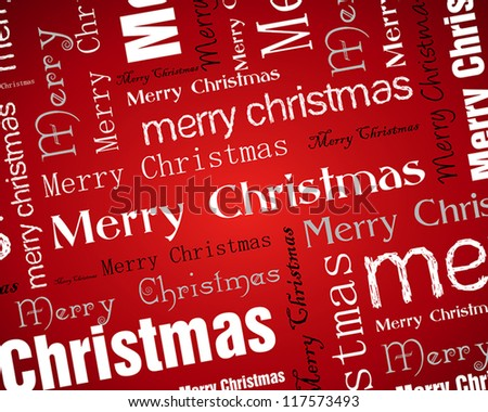 red white christmas background. christmas concept. - stock vector