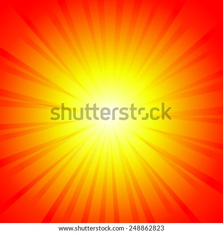 Red yellow glow background - stock vector