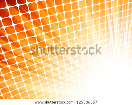 Red yellow rays light 3D mosaic. EPS 8 vector file included - stock vector