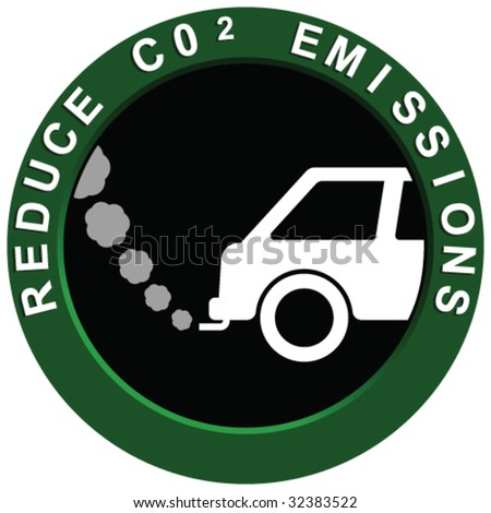 Reduce Carbon Emissions Vehicle - stock vector