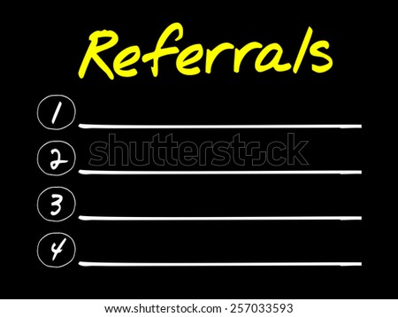 Referrals blank list, business concept - stock vector