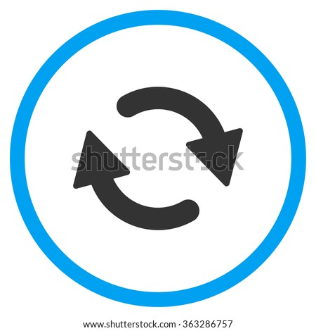 Refresh Flat Icon - stock vector