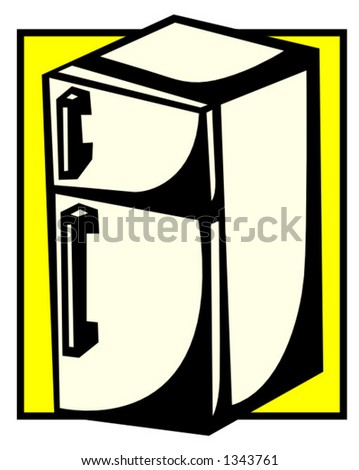 refrigerator - stock vector