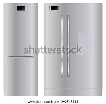 Refrigerator. Vector Illustration isolated on white background. - stock vector