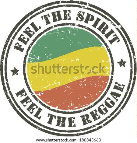 Reggae grunge stamp  - stock vector