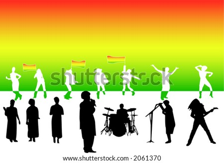 reggae party - stock vector