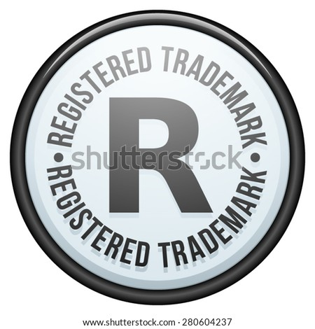 Registered trademark - stock vector